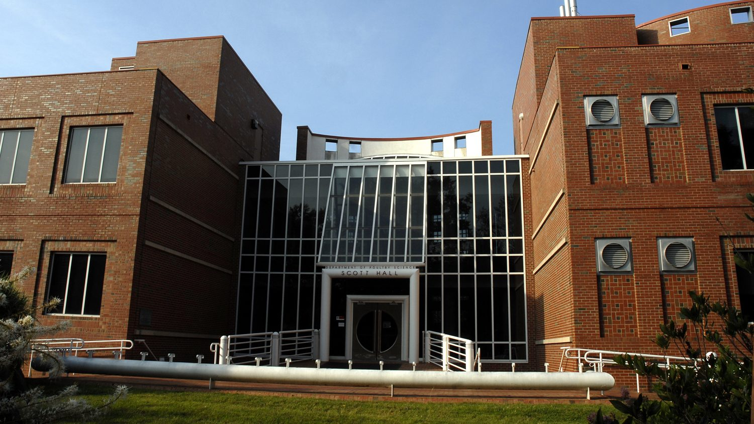 Scott Hall, home to the Prestage Department of Poultry Science at NC State