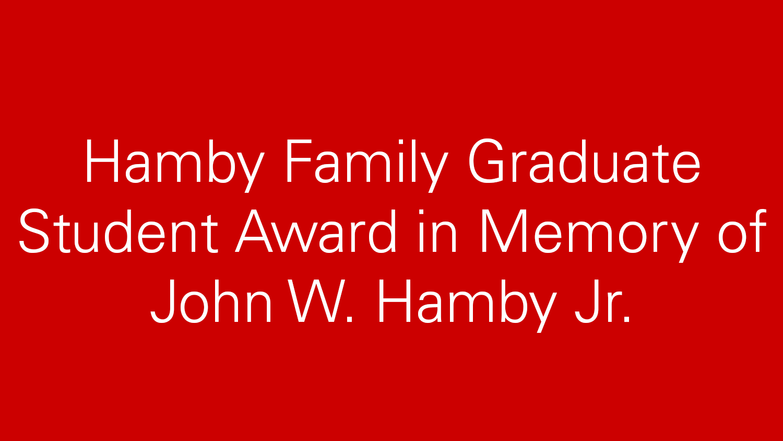 Hamby Family award title image
