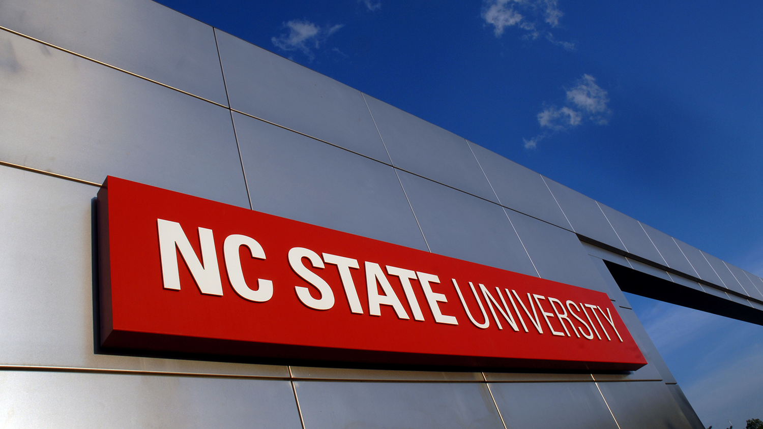 NC State campus gateway sign