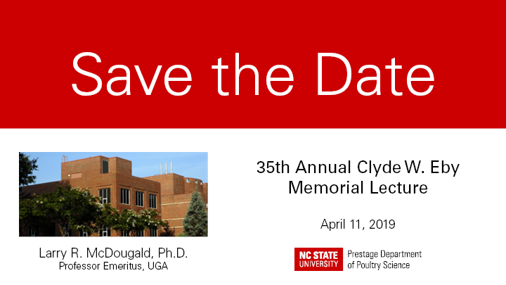 2019 Eby Lecture save the Date card