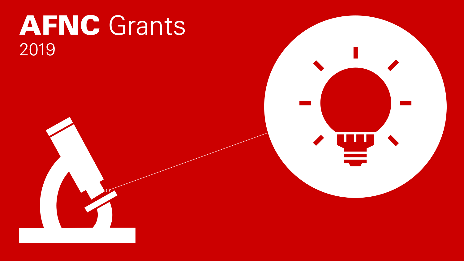 AFNC grants graphic with a microscope and lightbulb
