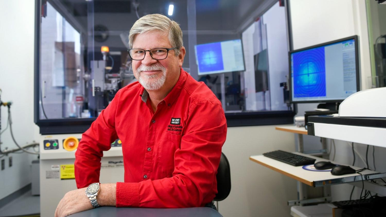 Steve Lommel in a university laboratory