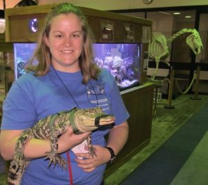 CALS animal science major Liz Hyde was among students getting hands-on experience at the herpetile handling lab.
