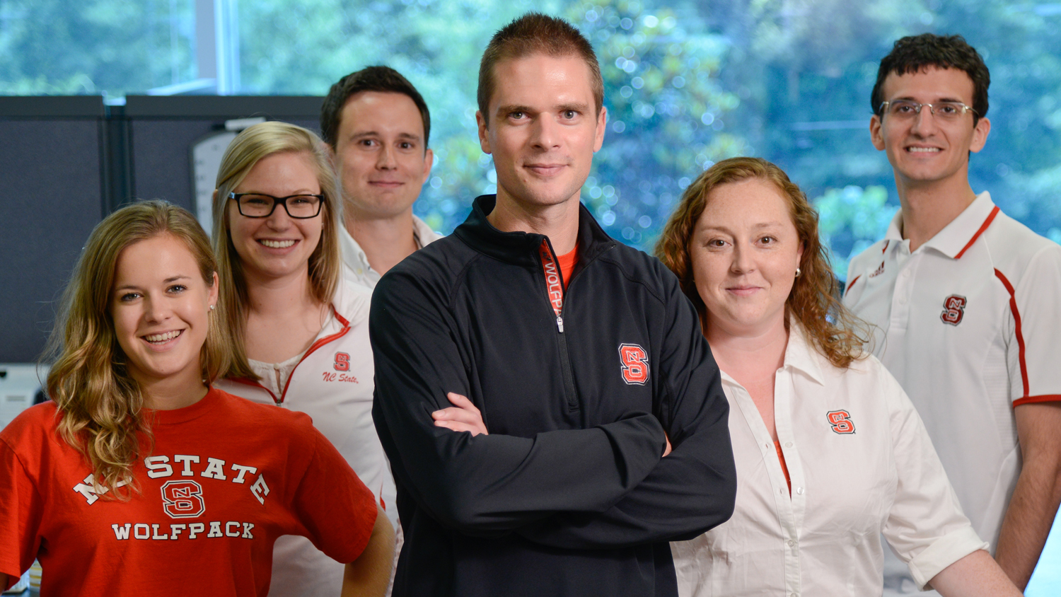 Rodolphe Barrangou, head of NC State's CRISPR Lab with his lab colleagues.