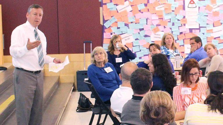 CALS Dean Linton speaking at CALS Proud leadership program.