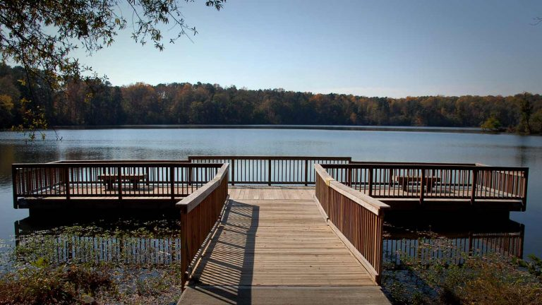 Dock at NC State's Lake Raleigh