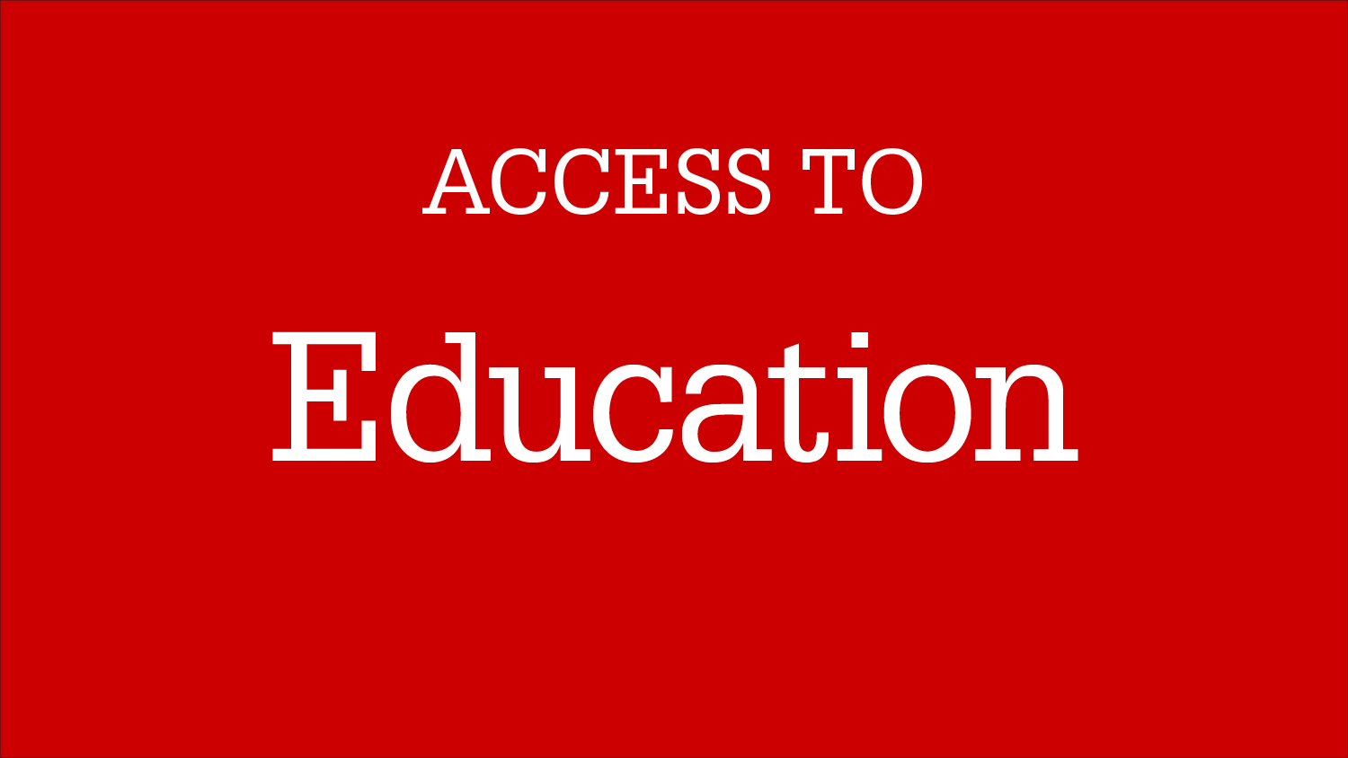 Graphic Image: Access To Education