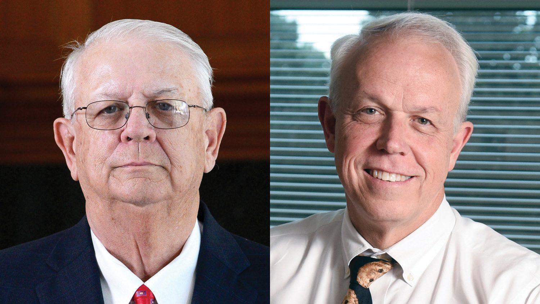 John Howard (L) and Joe Gordon, recipients of the 2016 CALS Distinguished Alumni Award.