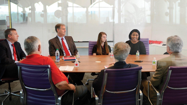 Participants at the Sept 2016 CALS Access Roundtable. From left: Richard Linton, Dan Weathington, Peter Daniel, Susan Jones, John Dole, Alexandria Graves, Jeff Mullahey