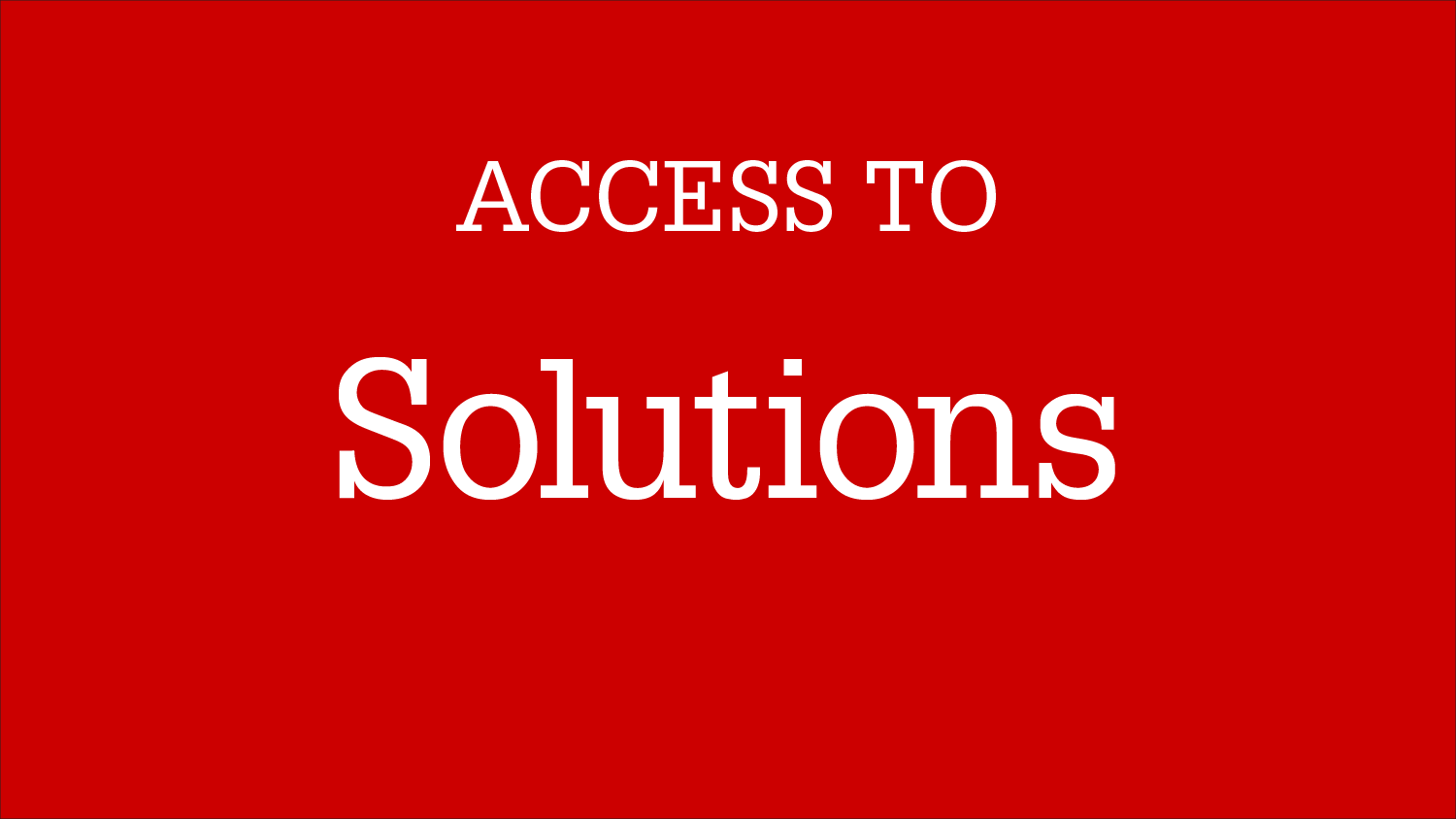 Graphic Image: Access To Solutions