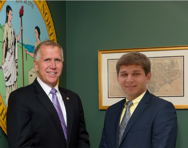 Sen. Thom Tillis and Ethan Holland
