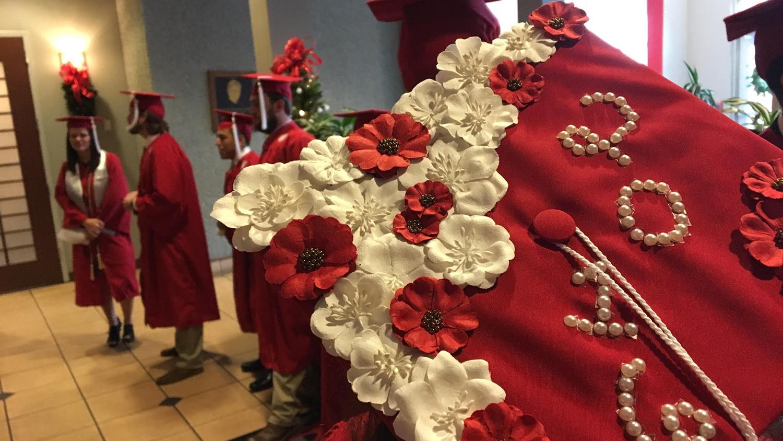 image of a decorated graduation cap