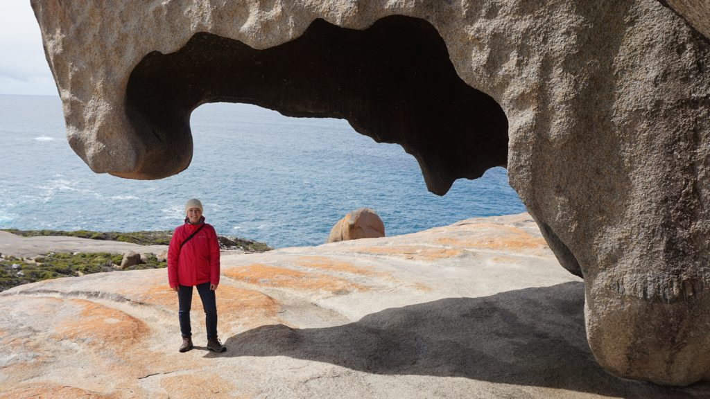 CALS Senior Christina Harvey on a study abroad trip to Australia.