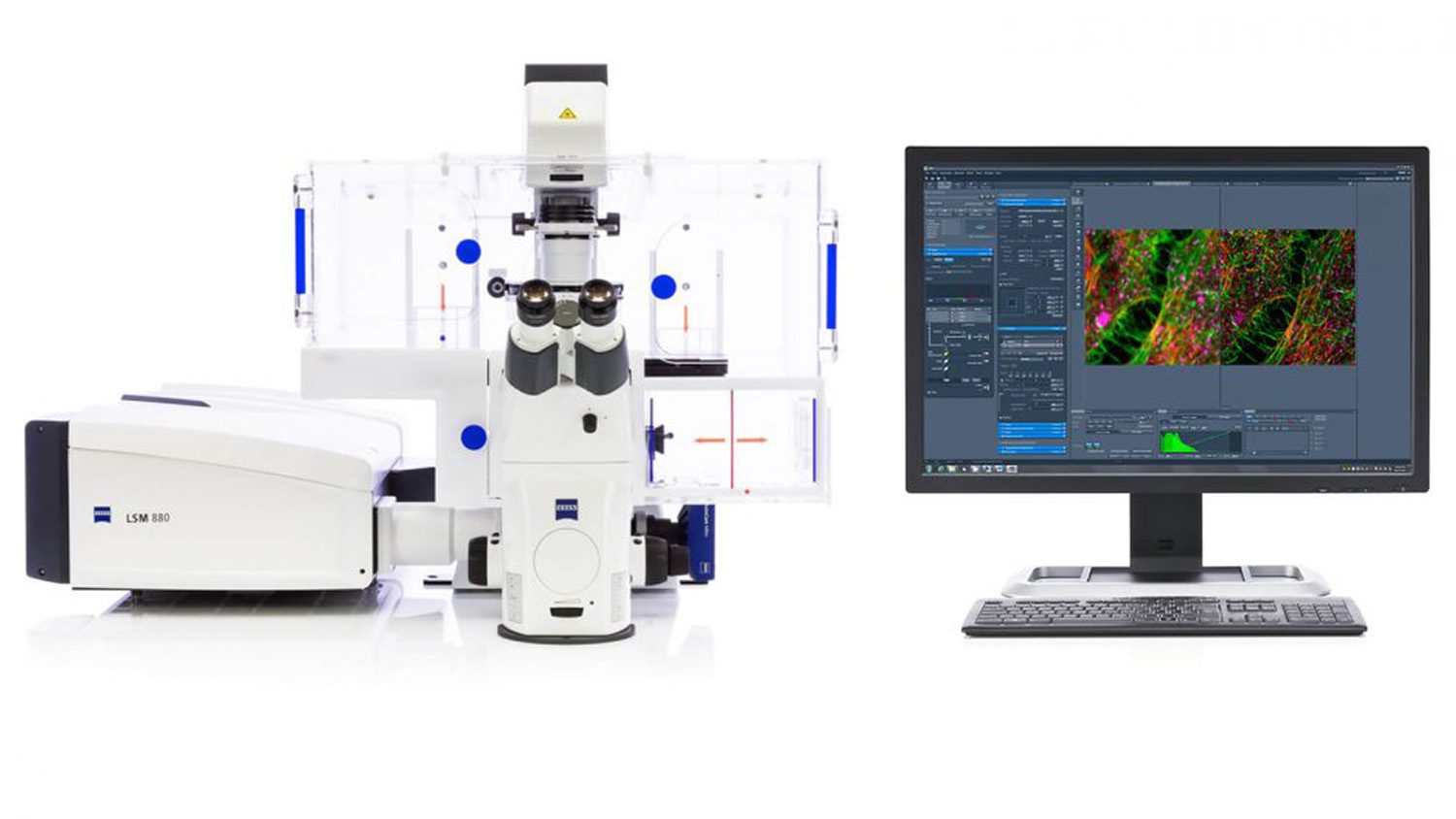 Zeiss microscope and monitor