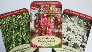 Three JC Raulston Arboretum Choice Plants tags