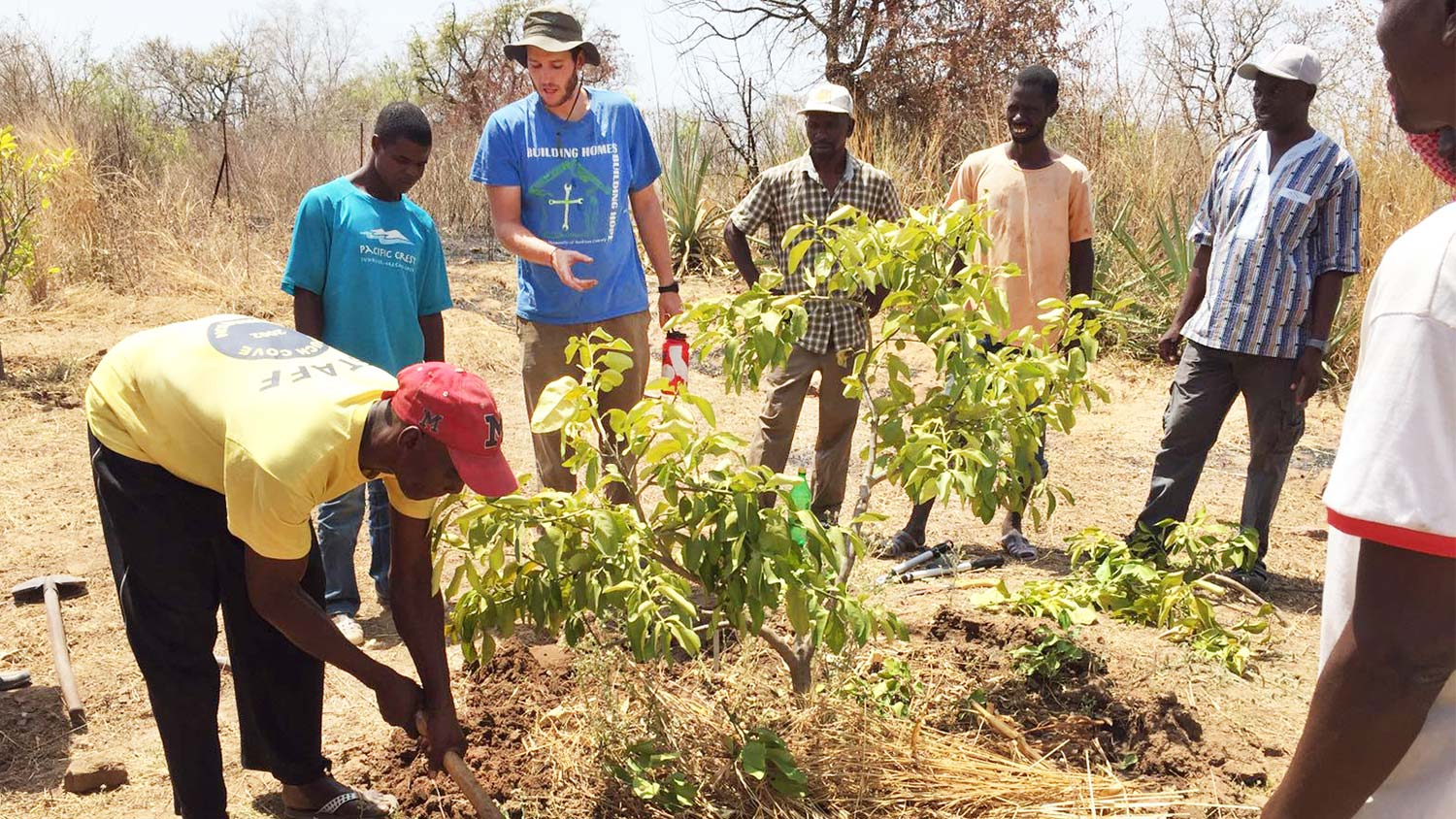 CALS grad Jack Alcorn working with growers in Senegal
