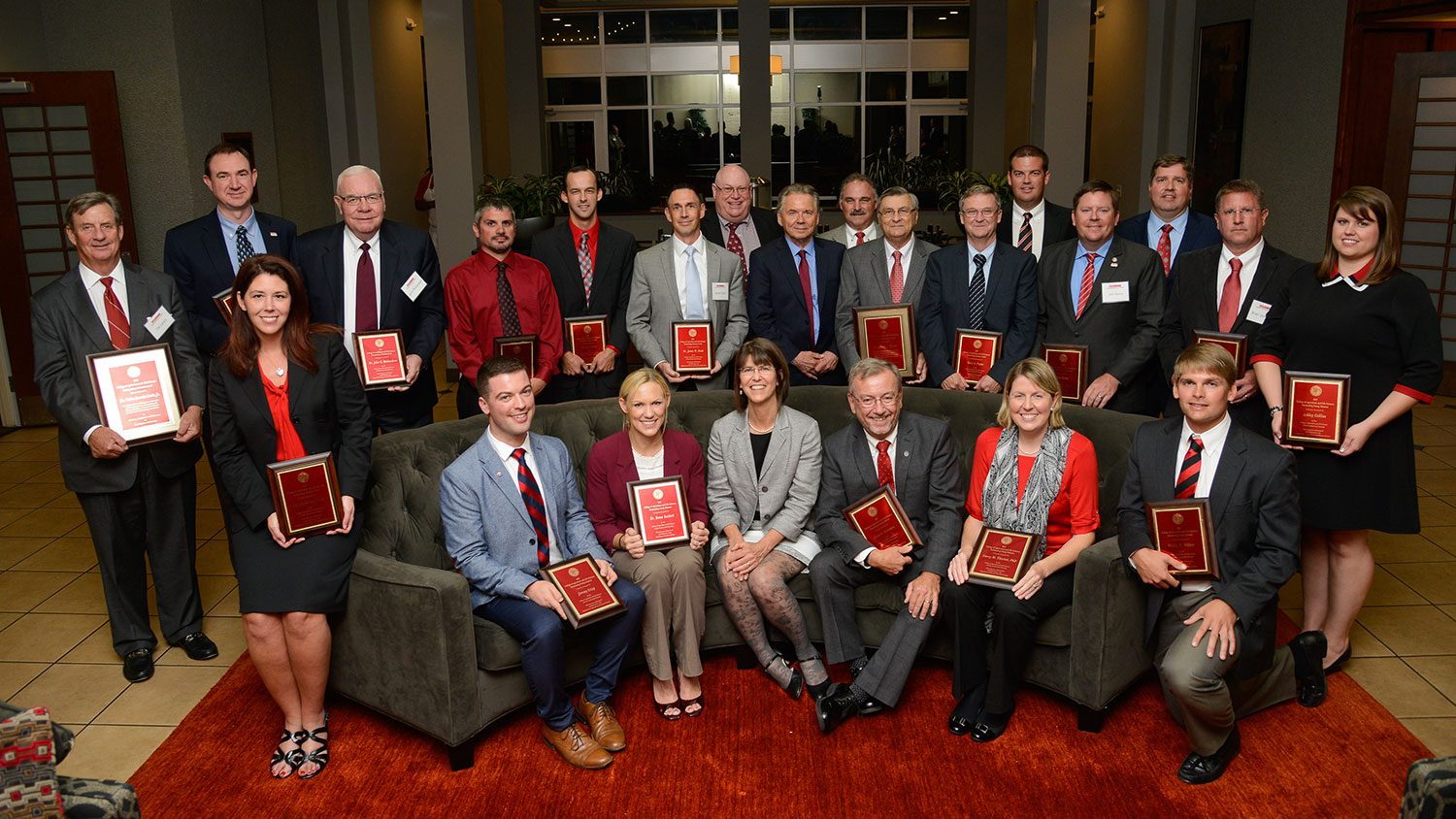 CALS alumni award winners gathered for a group shot at the ceremony