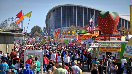Crowds at the N.C. State Fair