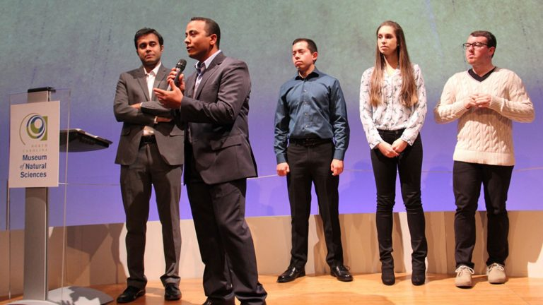 Competitors onstage during NC State's Three-Minute Thesis competition