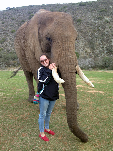 CALS Animal Science Senior Ruby Monn With Elephant