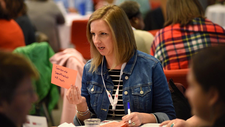 Staff member at a CALS Proud workshop