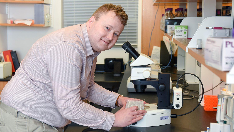 NC State grad student Brad O'Dell