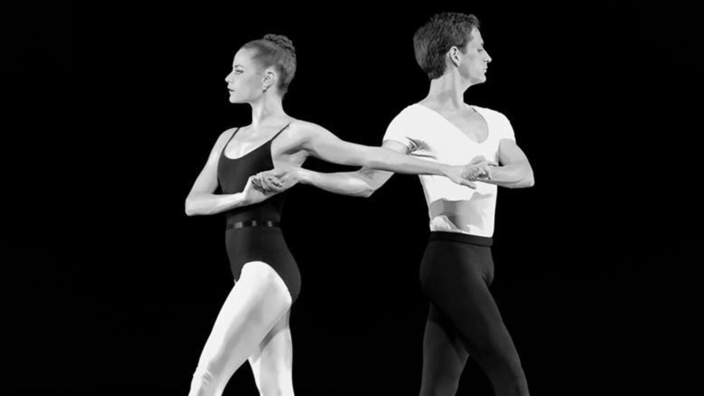 Two ballerinas posing