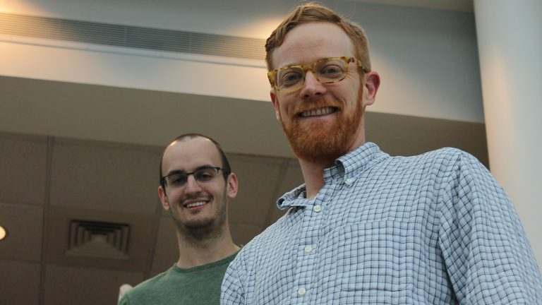 Cole Smith and Nick Basinger will graduate soon with graduate degrees in horticultural science.