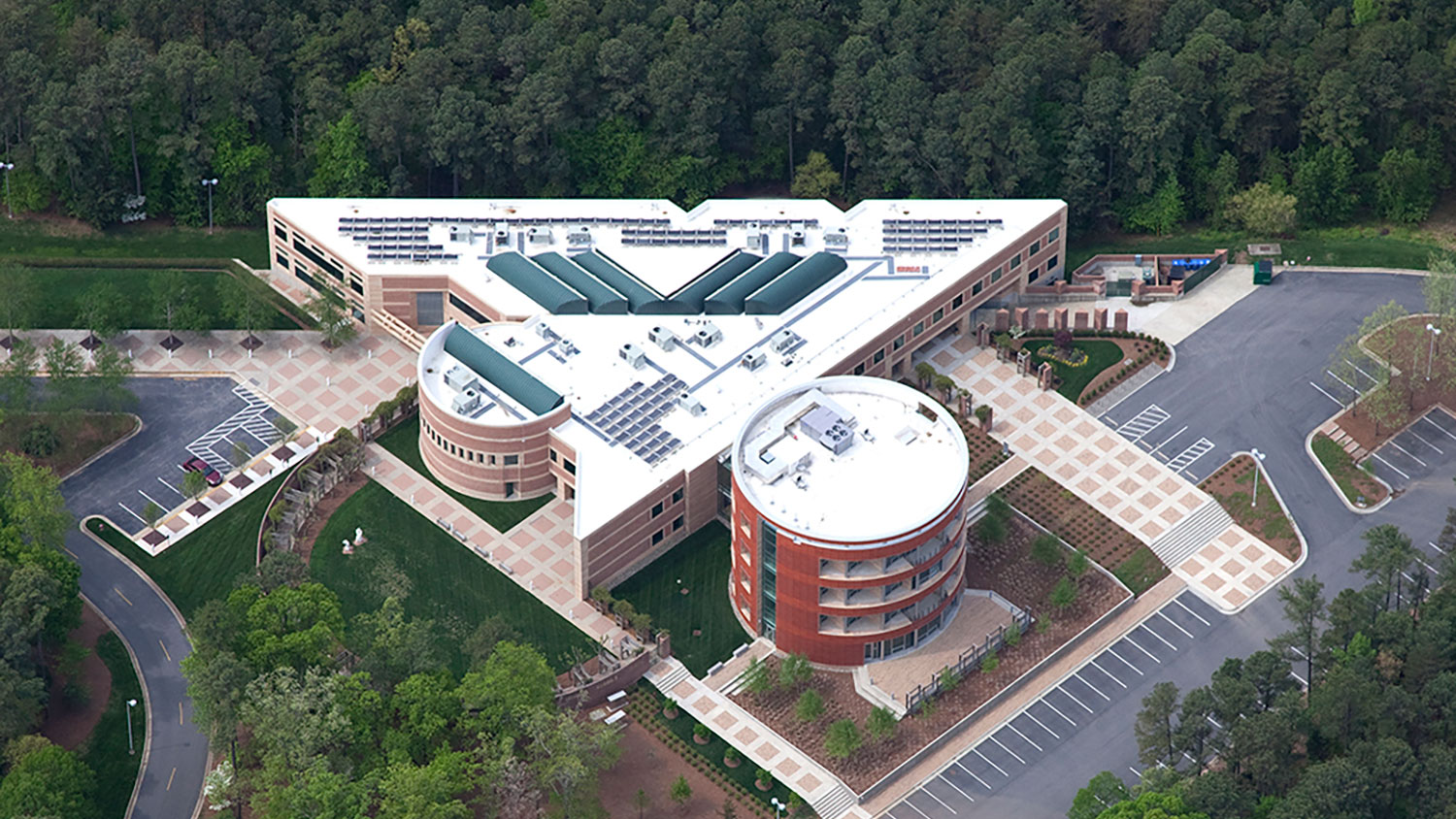 Aerial view of the biotech center