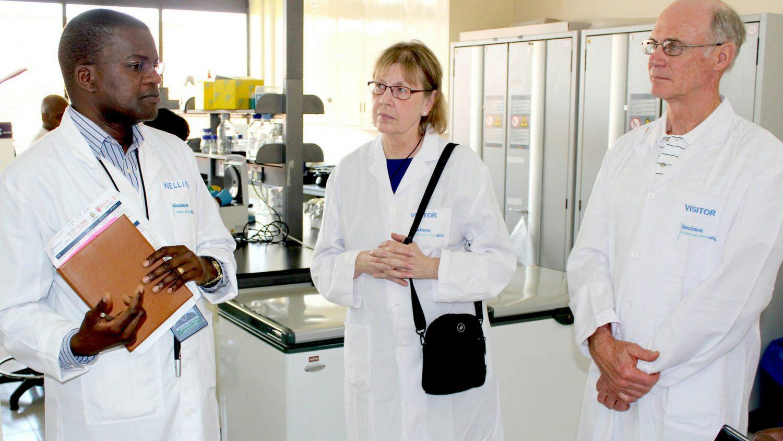 Wellington Ekaya of BecA-ILRI Hub; Linda Hanley-Bowdoin and George Kennedy of NC State at NSF-PIRES project launch