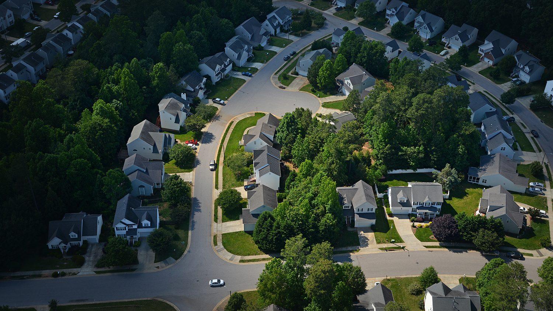 Aerial NC neighborhood