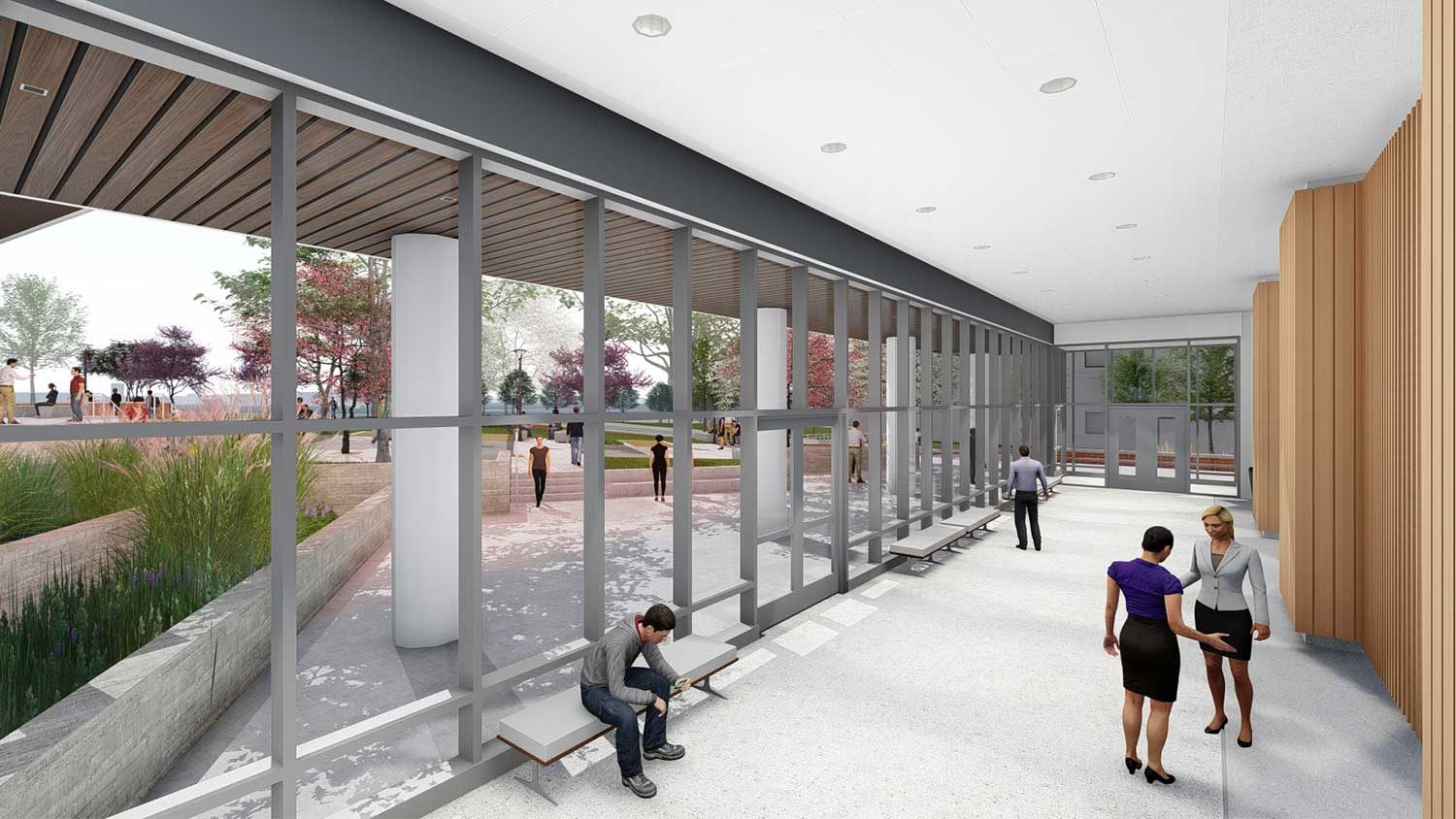 Rendering of pre-function area outside of PSI Seminar Room