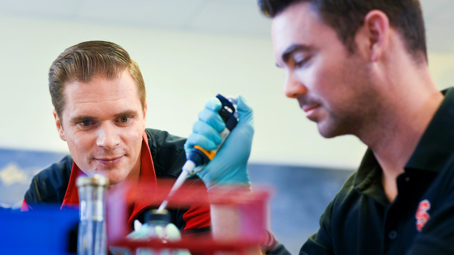 NCSU CALS' Rodolphe Barrangou in his CRISPR lab