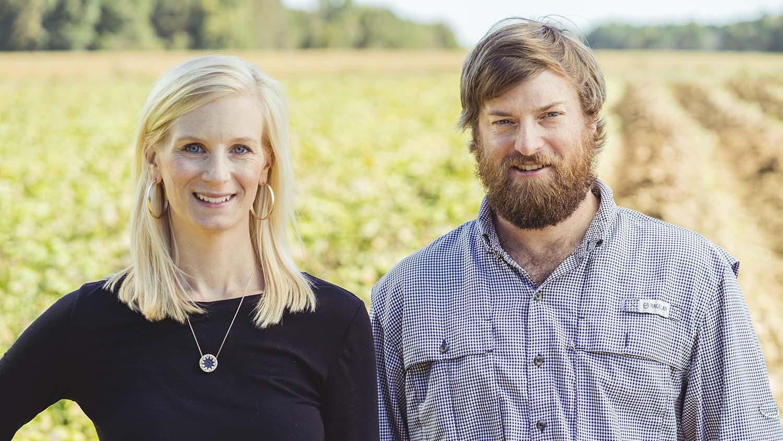 Head shots of Laura Hearn and Will Kornegay