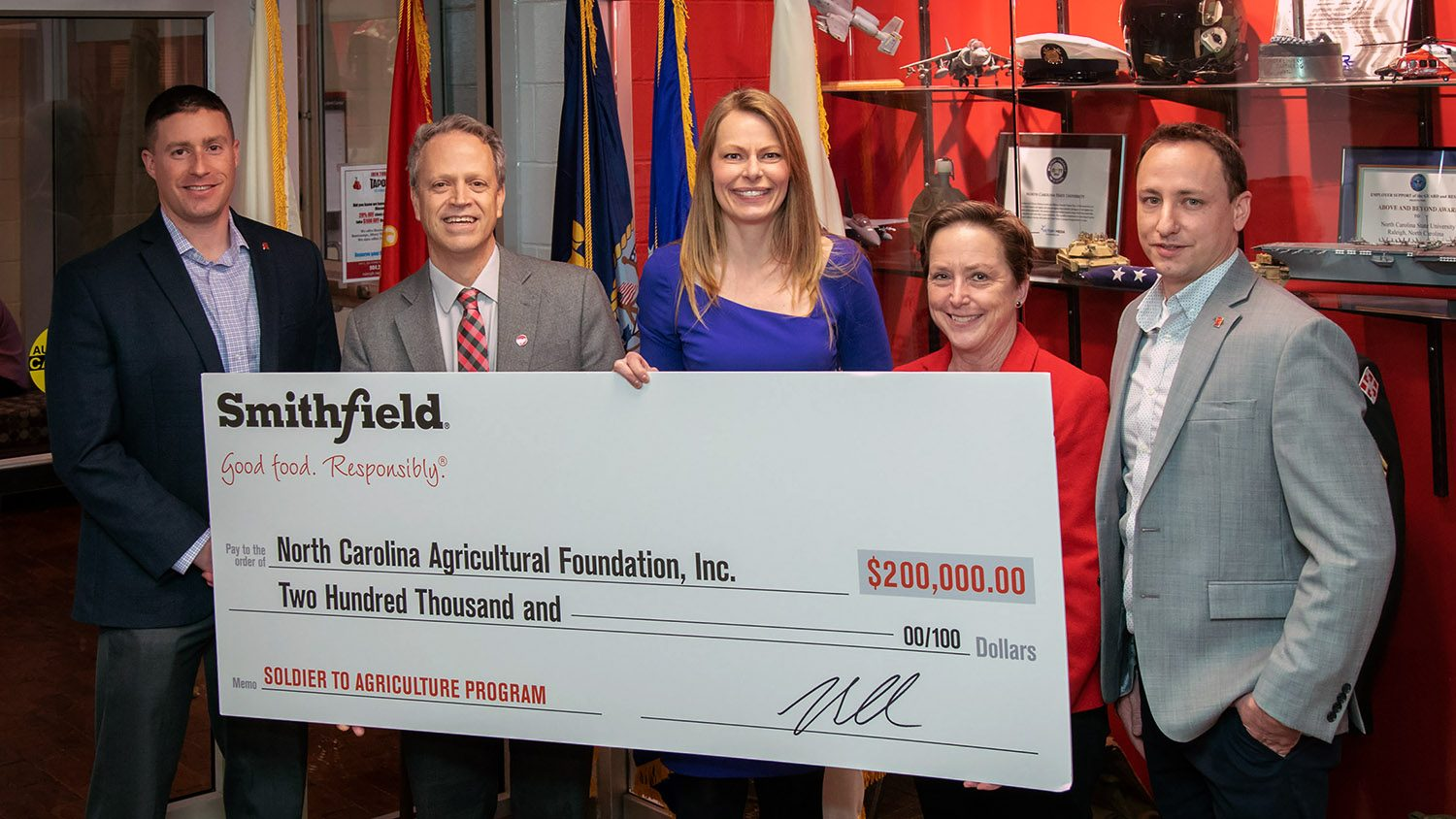 Smithfield Foods donates to CALS' Soldier to Agriculture Program