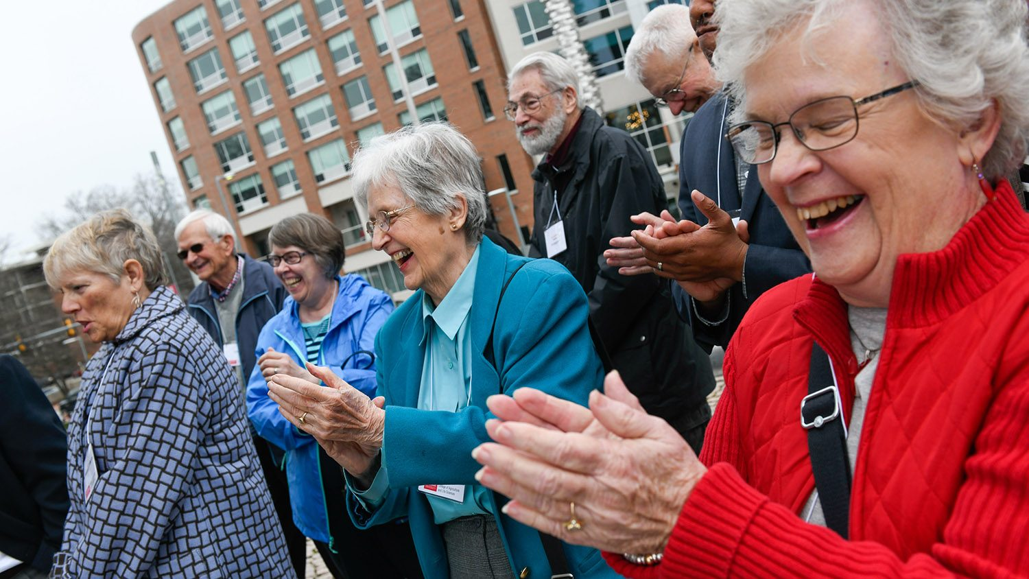 CALS donors applaud during Donor Appreciation Month events on NC State's campus.