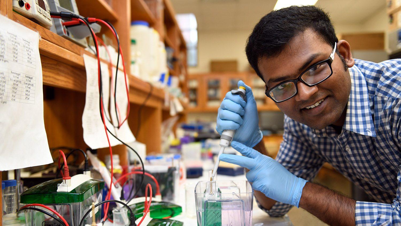 Biochemistry Ph.D. candidate Sayan Chakraborty