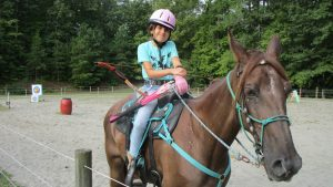 Dria Delgado and her horse, Pixie.
