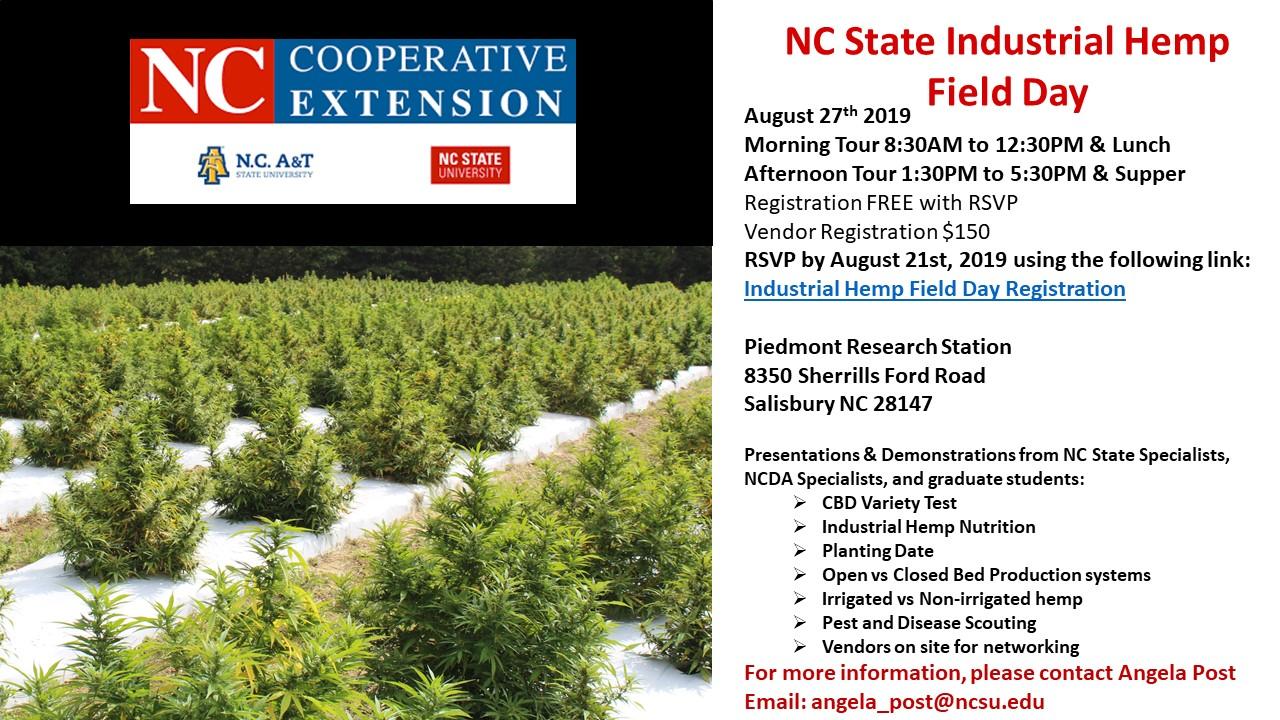 Industrial Hemp Field Day Flyer