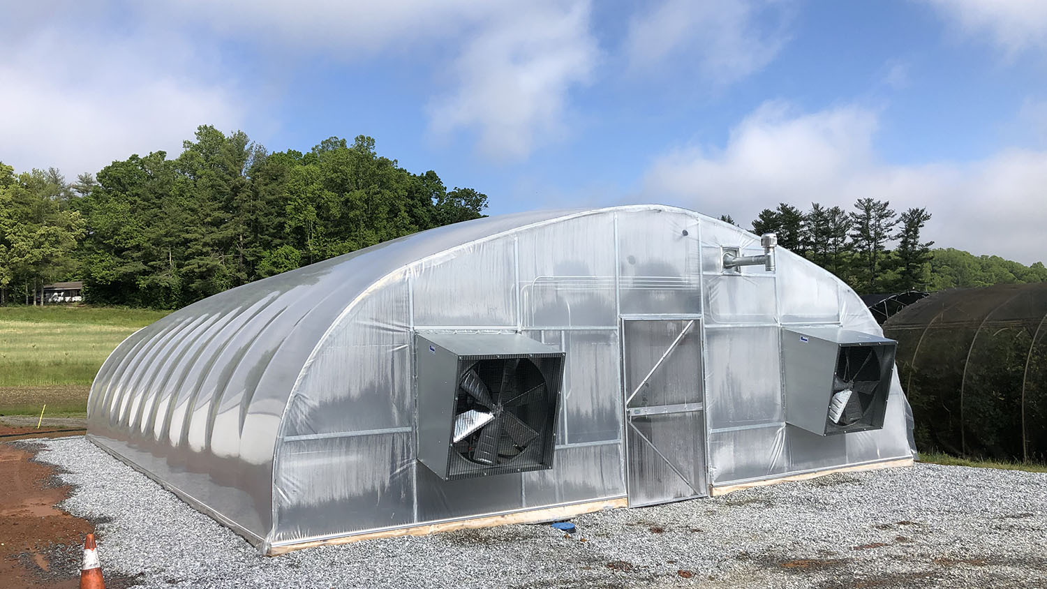 The new greenhouse at Mountain Horticultural Crops Research and Extension Center in western North Carolina.
