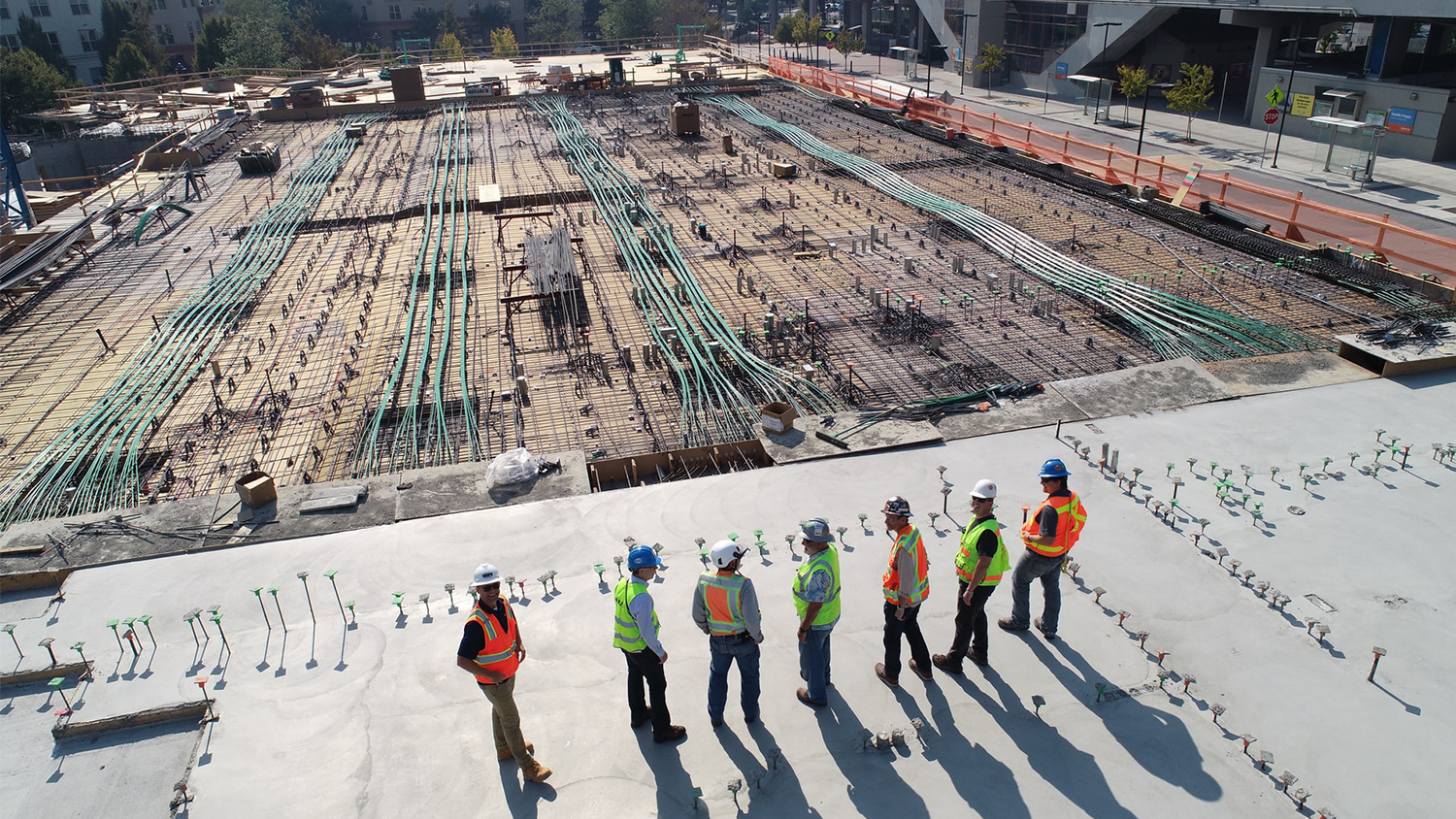 Construction managers overlook a job site