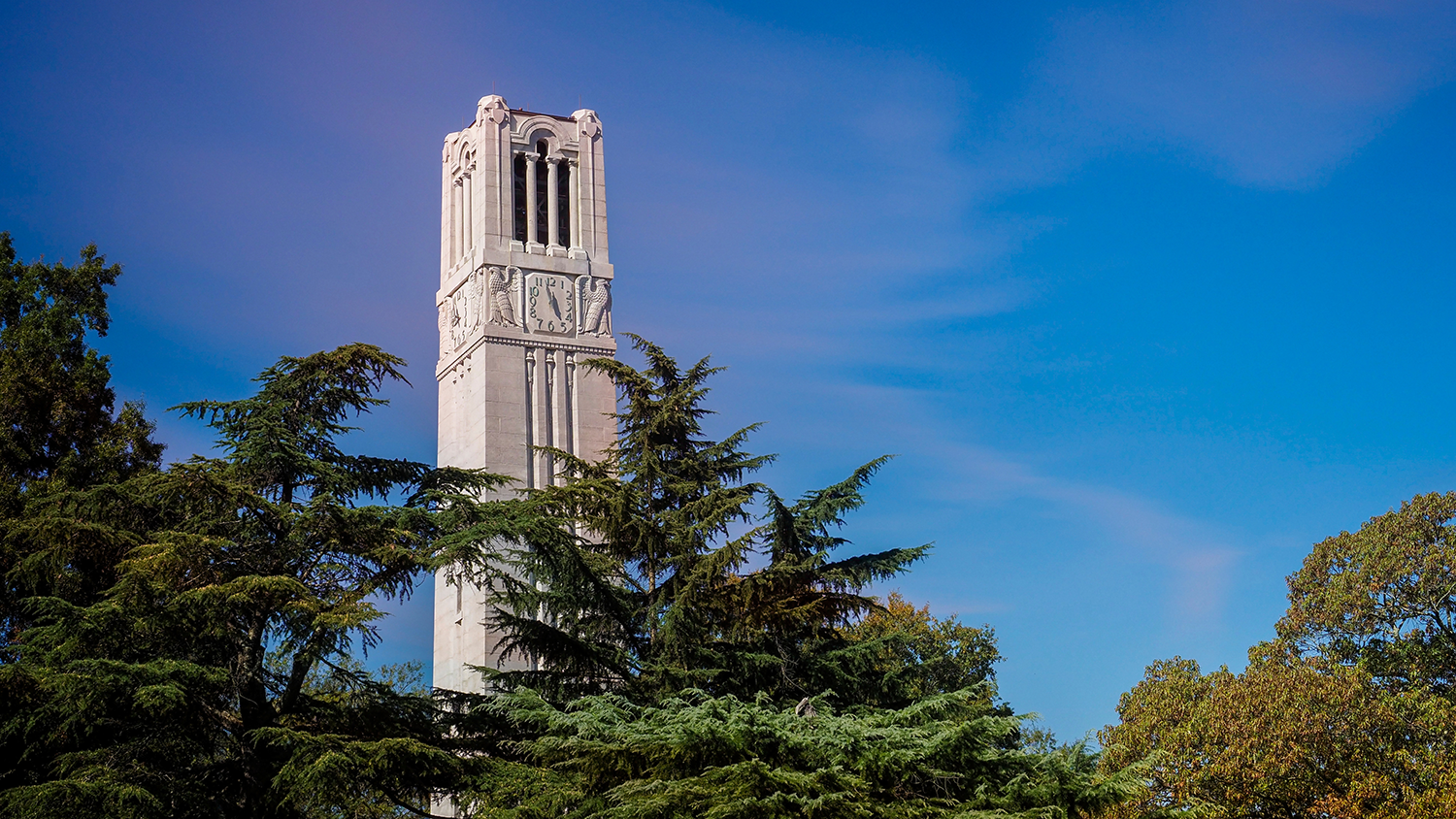 NC State's Memorial belltower on main campus.
