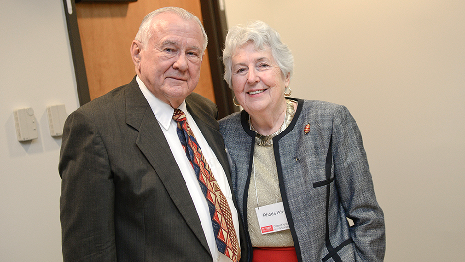 George and Rhoda Kriz at an NC State function