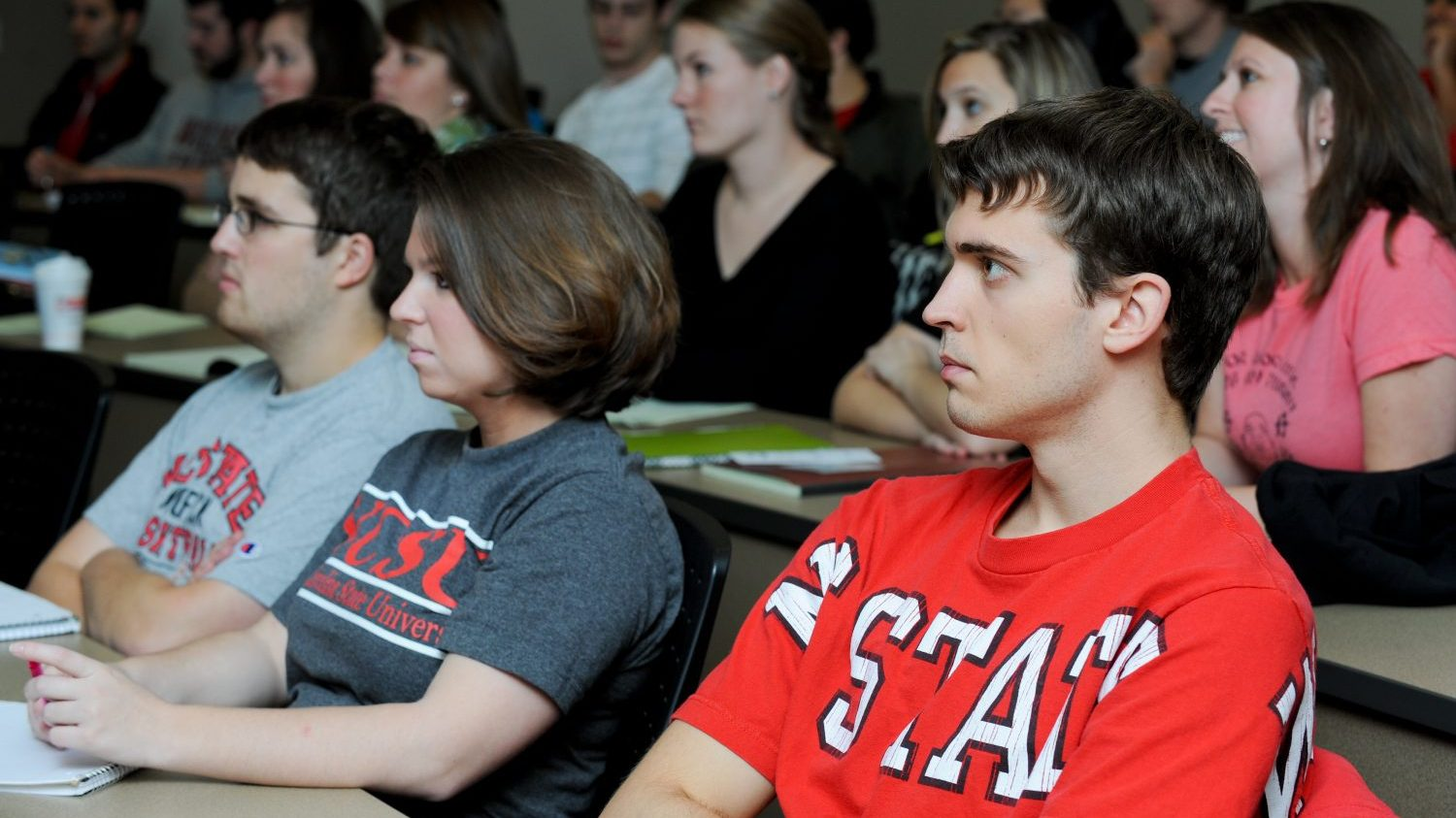 Students in a classroom at NCState