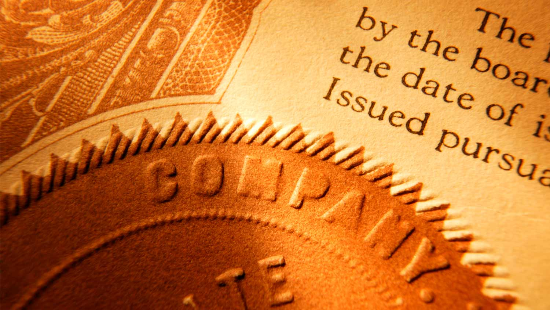 photo of stock paperwork