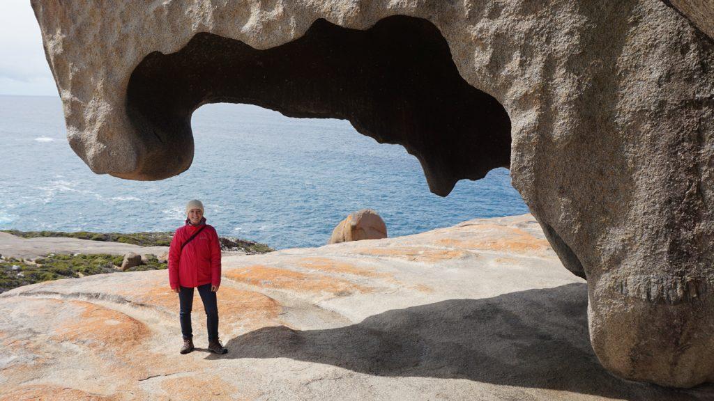 CALS Senior Christina Harvey on a study abroad trip to Australia.