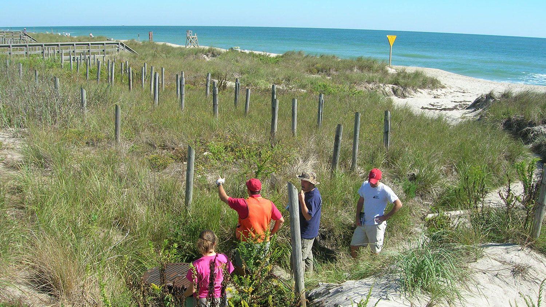 NCState Senior Design students surveying coastal North Carolina.