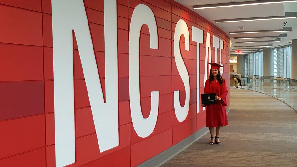 Selena Ibarra at CALS graduation