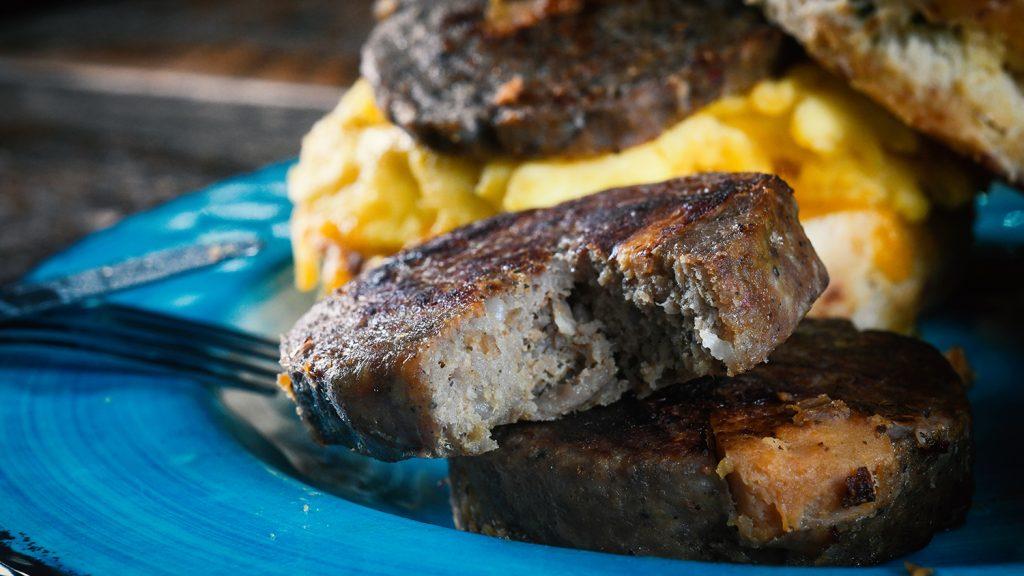 Sharp Farms' sweet potato pork sausage