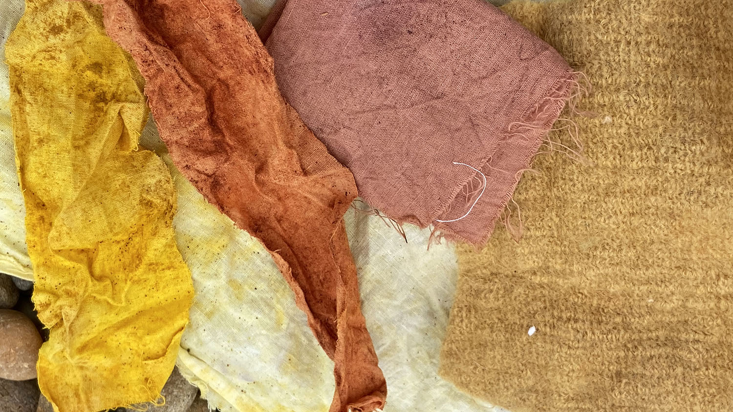 Fabrics of different textures and colors
